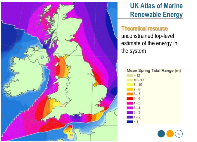 Tidal energy UK atlas